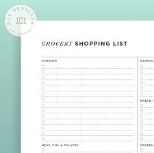 Grocer List Grocery List