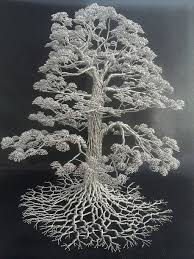 Wire Art Artist Turns Single Strands Of Wire Into Elaborate Tree Sculptures