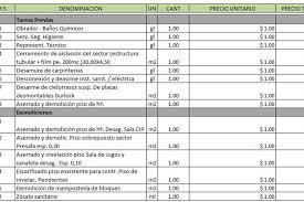 Planilla De Excel Para Presupuesto De Obra Planillaexcel Com