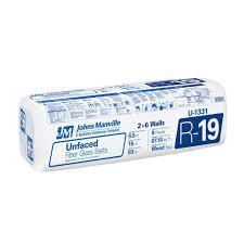 johns manville r 19 unfaced fiberglass insulation batt 15 in x 93 in