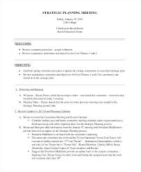Strategic Business Review Template E Day Planning Meeting