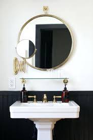 sinks black brass bathroom mirror pedestal sink tall 32 36 inch black brass bathroom mirror