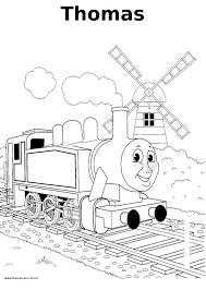 Thomas De Trein Kleurplaat Thomas Train Coloring Bubakidscom
