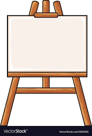 canvas on an easel vector image