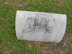 Nell Taylor Gaines (1883-1952) - Find A Grave Memorial