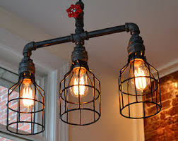 Ceiling Light - Metal Light - Bar Light - Handmade Lighting - Steampunk  Light - Hanging