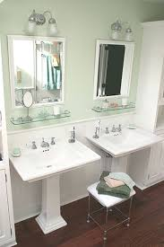 bathrooms designs. This Vintage Style, West Chester, PA Master Displays Twin Pedestal Sinks With Custom Beaded Inset Cabinets. Bathrooms Designs N