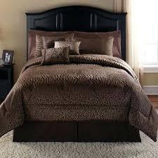 safari bed set safari bedding 7 set comforter set chocolate animal print w bed skirt shams