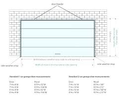 standard 1 car garage size 2 car garage door size pertaining to 2 car garage door