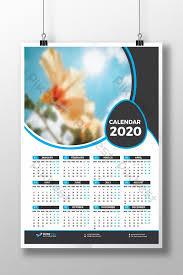 One Sheet Calendar 2020 1 Page Calendar 2020 Template Design Template Ai Free