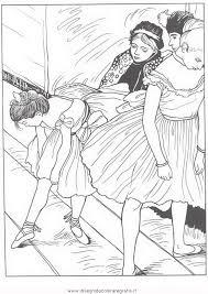Disegno Degas 01 Misti Da Colorare