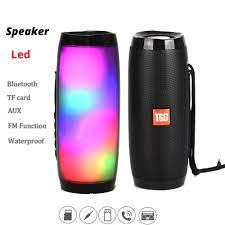 Portable Led Lamp Bluetooth Speaker Waterproof Fm Radio Wireless Boombox Mini Column Subwoofer Sound Box Mp3 Usb Phone Computer Bass
