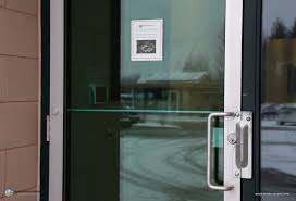 our employee entrance is secured with a hes 1006 electric strike with adams rite deadlatch employees and tenants scan an authorized access card and can