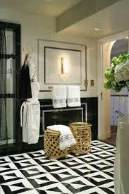 black and white tile floor. Delighful Tile Love This Bathroom Floor Clean Bathroom Porcelain Tile Floors Interior  Design  Painted Floor Design Black And White Kitchen Designed By C And White Floor N