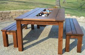 build a garden. How To Build A Garden Table KRUSE39S WORKSHOP Patio Party With Built In BeerWine Ice N