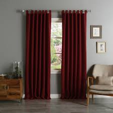 aurora home tab top thermal insulated 84 inch blackout curtain panel pair 52 x 84 free today com 12329780