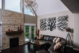railingart tree triptych 3 panel laser cut tree wall decor