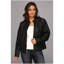 jessica simpson women s plus size quilted faux leather moto jacket within women 039
