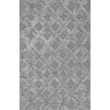 francene diamond trellis gy silver 8 x 10 area rug