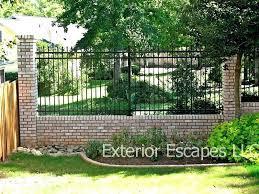 Brick And Iron Fence Brick And Wrought Iron Fence Brick Iron Fence