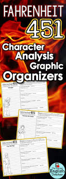1000 ideas about fahrenheit 451 ray bradbury books fahrenheit 451 character analysis graphic organizers