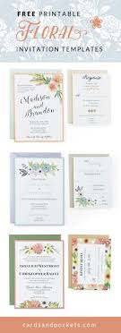 best 25 free invitation templates ideas on pinterest diy Free Email Wedding Invitations Uk free wedding invitation templates customize and download these floral designs to create your own unique free email wedding invitation templates