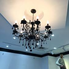 10 light chandelier modern black crystal with pendants wrought iron chandeliers lights led bedroom chandelie jpg