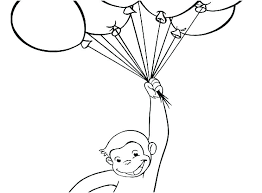 Curious George Color Pages Printable Curious Coloring Pages