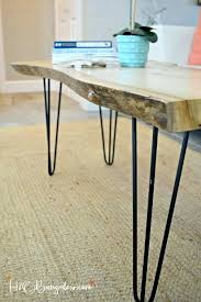 diy hairpin table live edge coffee with legs round side view