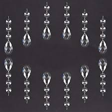 ph pandahall 30 pcs 38mm replacement clear glass chandelier icicle crystal prisms octogan garland hanging bead curtain wedding club party decoration lamp
