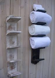 wood towel rack handmade wall mount