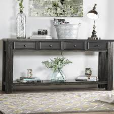 entryway with a console table