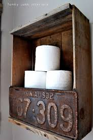 old wooden crate toilet paper holder cool man cave decor and furniture ideas to try