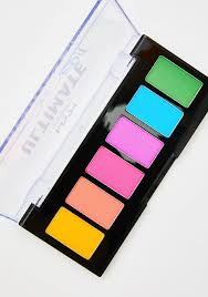 nyx professional makeup brights ultimate edit shadow palette