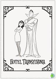 Hotel Transylvania Coloring Pages Hasshecom