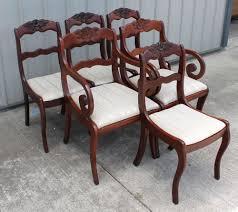6 willet roseback solid cherry empire duncan phyfe dining room chairs empireduncanphyfe willet