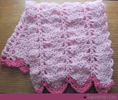 Free Crochet Blanket Patterns Extraordinary A Crocheted Pink Baby Girl Blanket Sakeenah