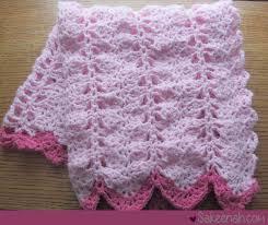 Free Crochet Baby Afghan Patterns Enchanting A Crocheted Pink Baby Girl Blanket Sakeenah