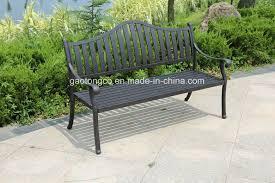 person black checd garden bench