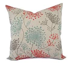 floral pillow shams. Exellent Pillow Orange Blue And Beige Floral Pillow Shams  Covers  Linen Cases In 1