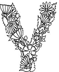 Small Picture Alphabet Flowers Letter Y Coloring Pages Batch Coloring