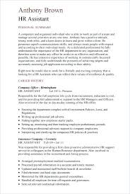 Hr Assistant Template Human Resources Administrator Cv