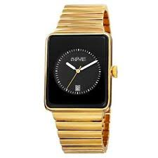 mens rectangular watch steiner as8181ygb date rectangular case black dial goldtone mens watch