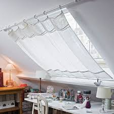 skylights are magical but too much sunlight love this curtain