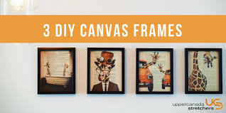 3 diy frame options for your canvas prints