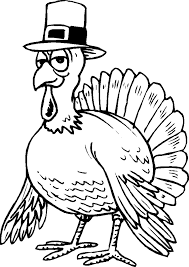 Big Bird Thanksgiving Coloring Pages