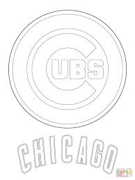 Chicago Cubs Logo Coloring Page From