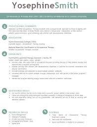 Occupational Therapist Job Description Unique Occupational Therapy Resume Template Download Tips To Get Hired