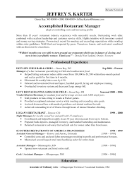 Sample Resume For Restaurant Manager Restaurant Manager Sample Resume Restaurant Bar Resume Template 15