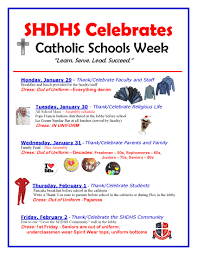 Catholic Schools Week Agenda | St. Henry District High School